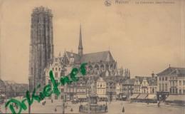 Feldpost: 2. Eskadron Husaren-Regt. Nr. 9, Mecheln 5.2.1916, Motiv: Malines Kathedrale Saint-Rombaut - 1914-18