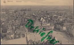 Feldpost: 2. Eskadron Husaren-Regt. Nr. 9, Mecheln 31.1.1916, Motiv: Malines Panorama, Marktplatz - 1914-18