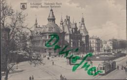 Feldpost: 2. Eskadron Husaren-Regt. Nr. 9, Antwerpen 11.12.1915, Motiv: Anvers Nationalbank, Straßenbahn - 1914-18