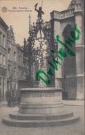 Feldpost: 2. Eskadron Husaren-Regt. Nr. 9, Antwerpen 19.1.1916, Motiv: Anvers Brunnen Puits De Quentin Massijs - 1914-18