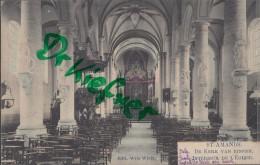 Feldpost: 2. Eskadron Husaren-Regt. Nr. 9,  Mecheln 4.3.1916, Motiv: St. Amands, Kirche Von Innen - 1914-18