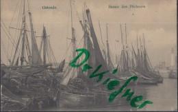 Feldpost: Stempel: K.D.Feldpost Der 44. Res.-Div. 6.2.1915, Motiv: Ostende. Bassin Des Pêcheurs, Mit Leuchtturm - 1914-18