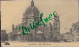 Feldpost: Fussartillerie-Batterie Nr.444, Brüssel 24.I.1916, Motiv: Bruxelles Eglise Sainte Marie - 1914-18