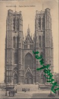 Feldpost: Fussartillerie-Batterie Nr.444, Brüssel 24.I.1916, Motiv: Bruxelles Eglise Sainte Gudule - 1914-18