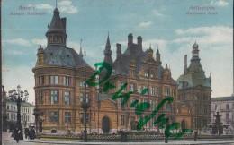 Feldpost: Militäreisenbahn Werkstättenamt Namur, Stempel: Namur ?.12.1915, Motiv: Anvers, Antwerpen Nationalbank - 1914-18