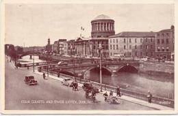 ALTE  Foto- AK    DUBLIN / Irland  - Four Courts And River Liffey -  1930 Ca. Gelaufen - Dublin