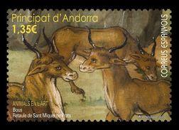 Andorra (ES) 2017 Mih. 459 Fauna In Paintings. Bulls. Altarpiece Of Sant Miquel De Prats MNH ** - Ungebraucht