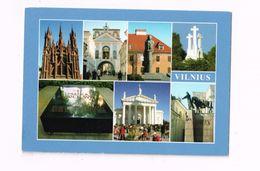 Multivues.Expédié De Vilnius à Vezin (Belgique) - Lithuania