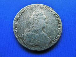 RUSSLAND Rubel 1780 St,Petersburg Katharina II (1762-1796) 100 % Original ! - Russland
