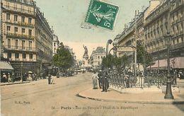 C-18-074 : PARIS RUE DU TEMPLE. ENTREE DE METRO GUIMARD - Métro