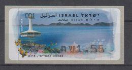 ISRAEL 2007 KLUSSENDORF ATM EILAT UNDERWATER OBSERVATORY - Viñetas De Franqueo (Frama)
