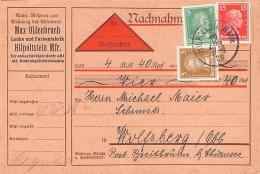 MiNr.386,387+391 Auf Nachnahme Gel.1928 Deutsches Reich - Marcophilie - EMA (Empreintes Machines)