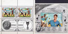 Fußball WM Mexico 1970 Tchad 307KB+Block 8 O 10€ Sportler Stadion Telestar Ss Soccer Blocs Sport Sheets Bf Football - Coupe Du Monde