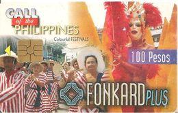 CARTEà-PUCE-PHILIPPINES-100Pesos-GEM2-1999- CARNAVAL FESTIVAL-TBE - Philippines