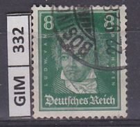 GERMANIA IMPERO, 1926Tedeschi Famosi, 8 Pf, Usato - Gebruikt