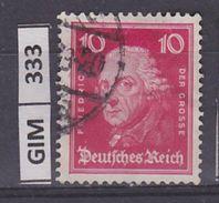 GERMANIA IMPERO, 1926Tedeschi Famosi, 10 Pf, Usato - Gebruikt