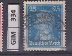 GERMANIA IMPERO, 1926Tedeschi Famosi, 25 Pf, Usato - Gebruikt