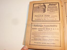 Heinrich Zeiss Frankfurt Am Main Berlin Germany 1914 - Publicidad