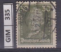GERMANIA IMPERO, 1926Tedeschi Famosi, 30 Pf, Usato - Gebruikt
