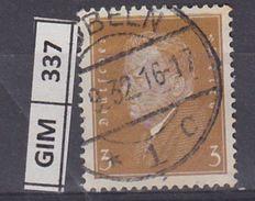 GERMANIA IMPERO, 1928-32Ebert E Hindenburg, 3 Pf, Usato - Gebruikt