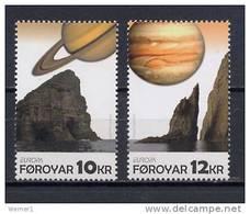 Faroe Islands - Foroyar 2009 Space, Astronomy, Europa Set Of 2 MNH - Space
