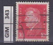 GERMANIA IMPERO, 1928-32Ebert E Hindenburg, 10 Pf, Usato Vermiglio - Gebruikt