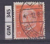 GERMANIA IMPERO, 1928-32Ebert E Hindenburg, 12 Pf, Usato Lilla Rosa - Gebruikt