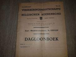 Daglogboek Verzekeringsmaatschappij Van Den Belgischen Boerenbond - Leuven - Mechelen - Georges Beel Anzegem 1941 - Libros, Revistas, Cómics