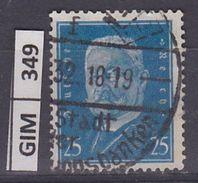 GERMANIA IMPERO, 1928-32Ebert E Hindenburg, 25 Pf, Usato - Gebruikt