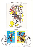 Carte-Maximum FRANCE N° Yvert 3546-3547 (LUCKY LUKE) Obl Sp Ill 1er Jour - Maximumkaarten