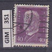 GERMANIA IMPERO, 1928-32Ebert E Hindenburg, 40 Pf, Usato - Gebruikt