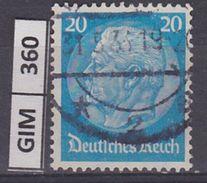 GERMANIA IMPERO,1932-33Pres Hindenburg,   20  Pf  , Usato - Gebruikt