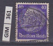 GERMANIA IMPERO,1932-33Pres Hindenburg,  40 Pf , Usato - Gebruikt