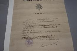Brevet Et Reconnaissance D'un Poilu Belge - 1914-18
