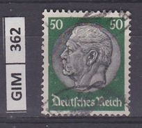 GERMANIA IMPERO,1932-33Pres Hindenburg,  50 Pf, Usato - Gebruikt