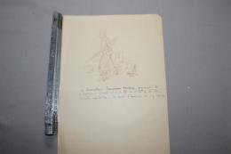 Réponse à Une Invitation  En Dessin D'un Commandant Artilleur 1915 - 1914-18