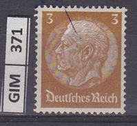 GERMANIA IMPERO,1934Pres Hindenburg, 3 Pf, Usato - Gebruikt