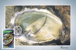 Carte-Maximum FRANCE N° Yvert 3651 (HUITRES) Obl Sp Marennes (Ed Marcou) - 2000-09