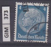 GERMANIA IMPERO,1934Pres Hindenburg, 4 Pf, Usato - Gebruikt