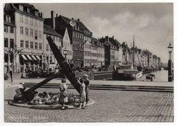Danemark---COPENHAGUE--1952 --  Nyhavn (animée, Bateau,commerces)--timbres  --cachet - Danemark