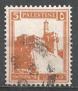 Palestine 1927. Scott #67 (U) Citadel At Jerusalem - Palestine