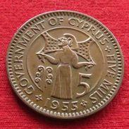 Cyprus 5 Mils 1955 KM# 34 Lt 715 Chipre - Cyprus