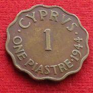 Cyprus 1 Piastre 1944 KM# 23a  Lt 716 Chipre - Cyprus
