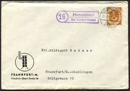 (1759) Landpoststempel (16) HUNOLDSTAL über USINGEN (Taunus) Auf Drucksache Vom 22.12.1952 Nach Heinzenberg - Briefe U. Dokumente