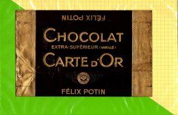 Etiquette De Chocolat Carte D'OR Felix POTIN - Labels