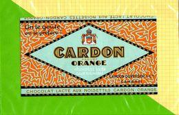 Etiquette De Chocolat Orange CARDON DUVERGER CAMBRAI - Labels