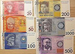 C) KYRGYZSTAN BANK NOTES 6 PC SET ND 2004 -2010 - Kirgisistan