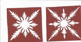 2 Scherenschnitte - Ca. 1945/50  (32537) - Papier Chinois