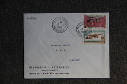 Lettre De MADAGASCAR Vers FRANCE,MADAGASCAR AUTOMOBILE , Agence De TAMATAVE. - Madagascar (1960-...)