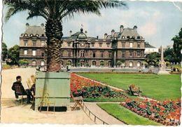 France & Circulated, Le Luxembourg Et Les Jardins, A'Abstenir Cést Deserter,  Paris,  Lisboa 1958 (644) - Monuments